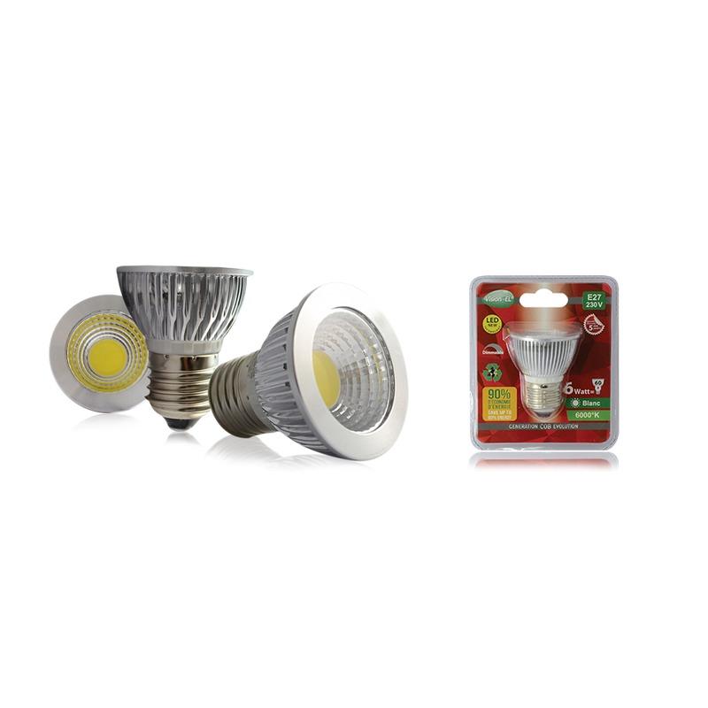 AMPOULE LED E27 6W DIM.