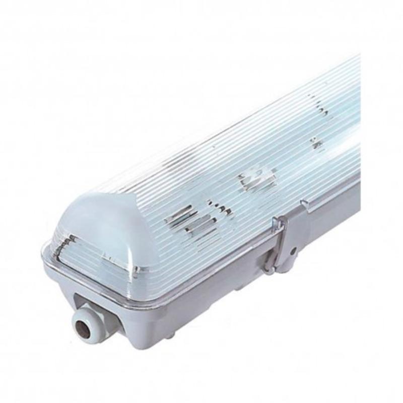 Boitier Etanche LED sans ballast pour 1 Tube T8 de 1200 mm