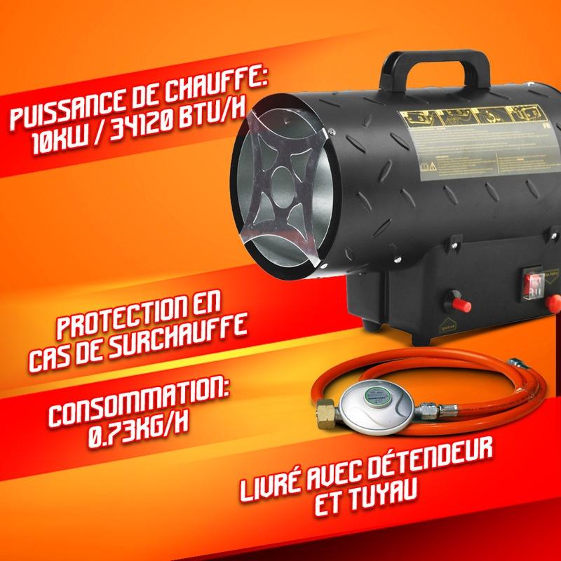 Canon a chaleur au gaz 10KW