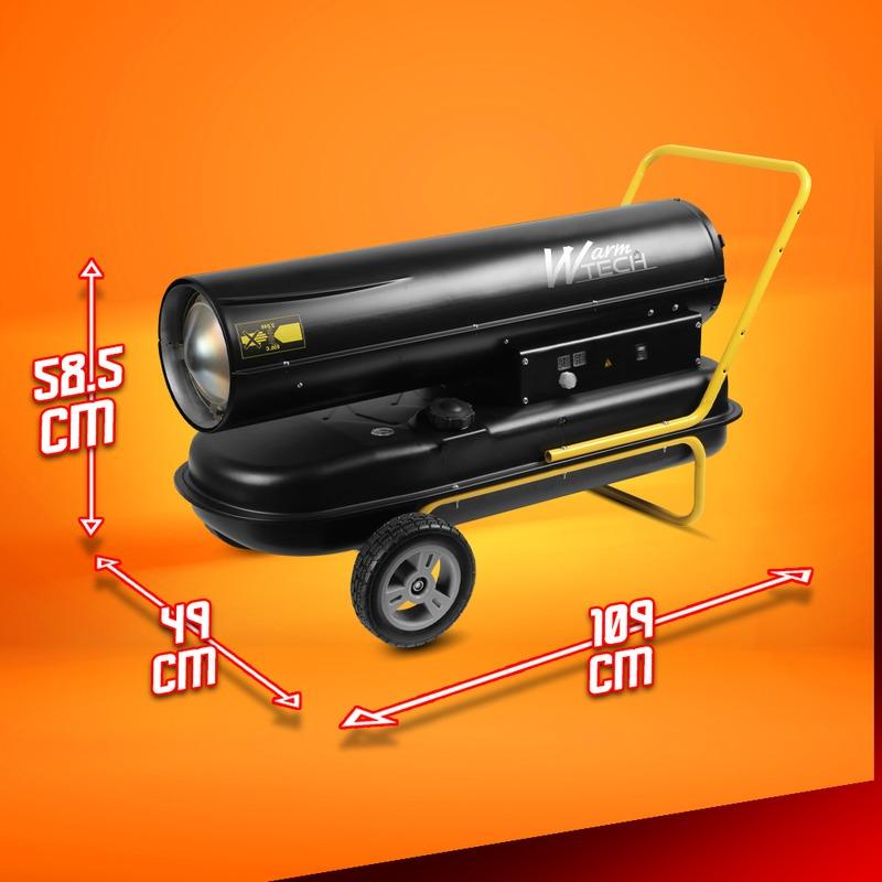 Canon à chaleur diesel 50 KW avec roues