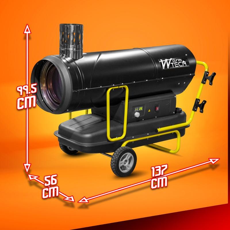 Canon à chaleur diesel à combustion indirecte 80Kw