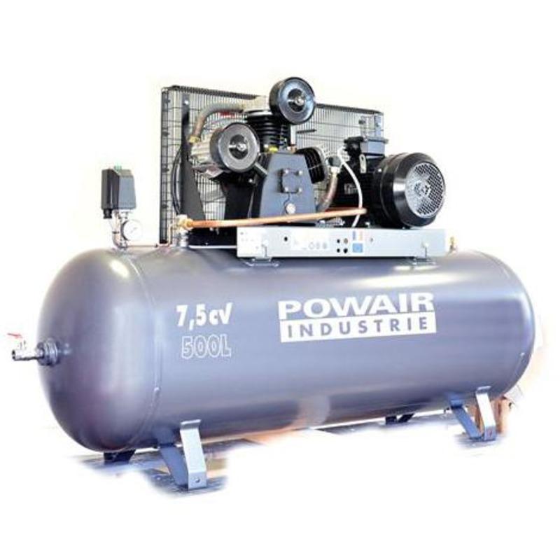 Compresseur courroie tri-cylindre 500 litres