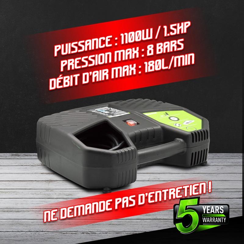 Compresseur portable 1100W