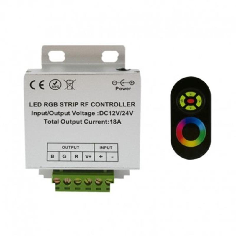 Controleur pour bandeaux LED RGB 12V/24V télécommande