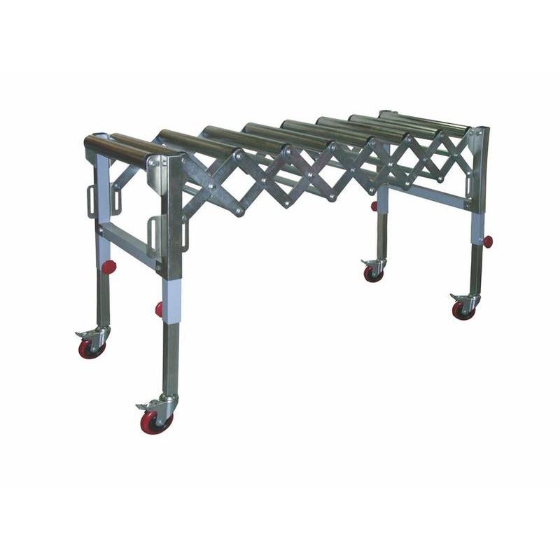 Convoyeur extensible et mobile 9 rouleaux 130 kg
