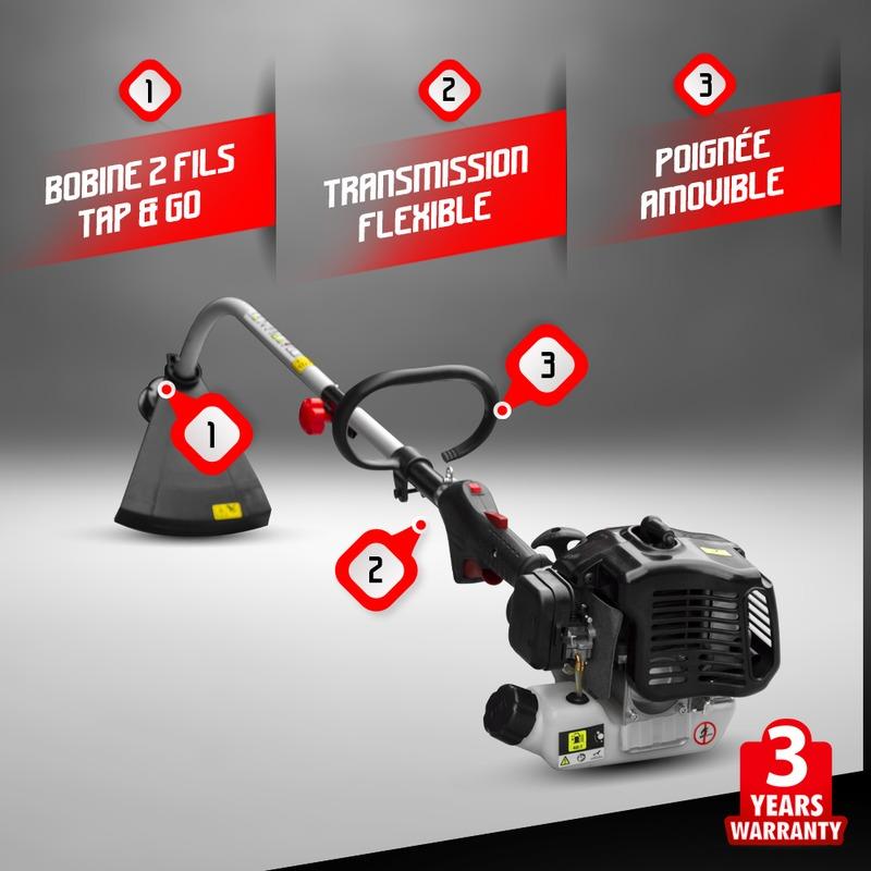Coupe bordures thermique 25cc