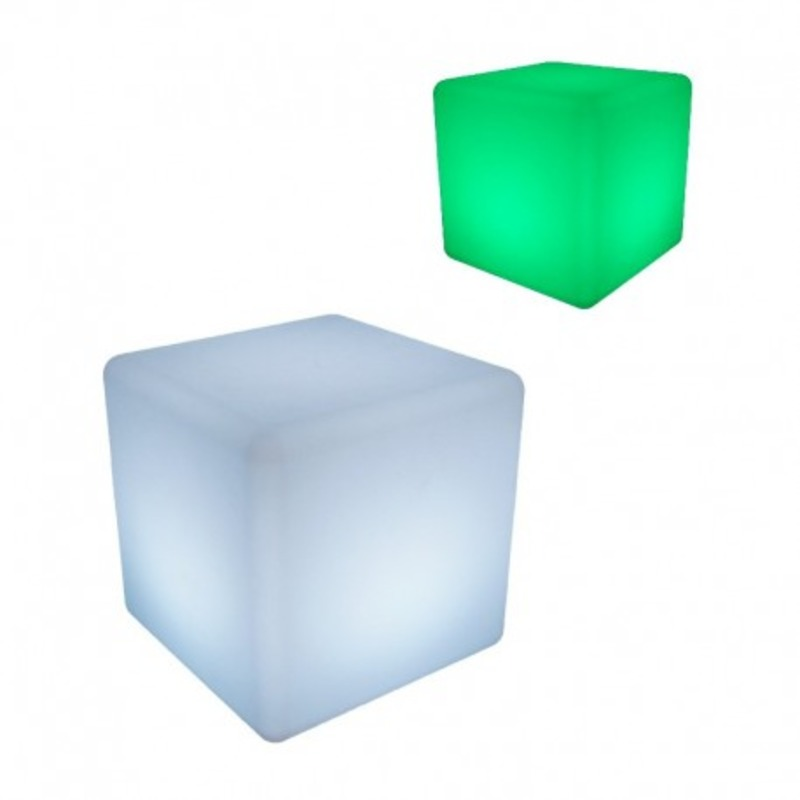 Cube lumineux LED RGB Rechargeable télécommande
