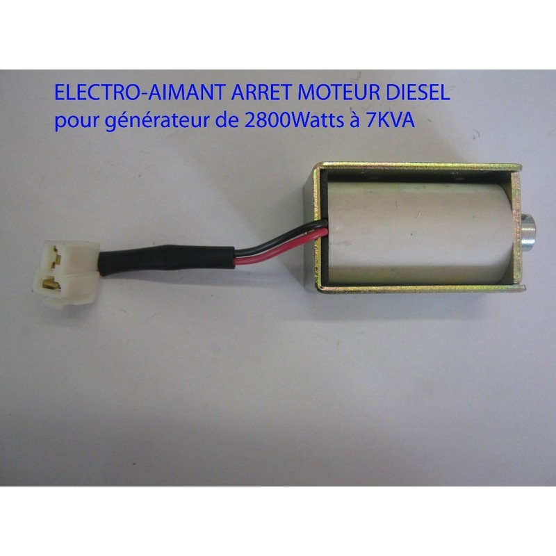 Electro-aimant arrêt moteur Diesel Générateur de 2800 Watts à 7KVA