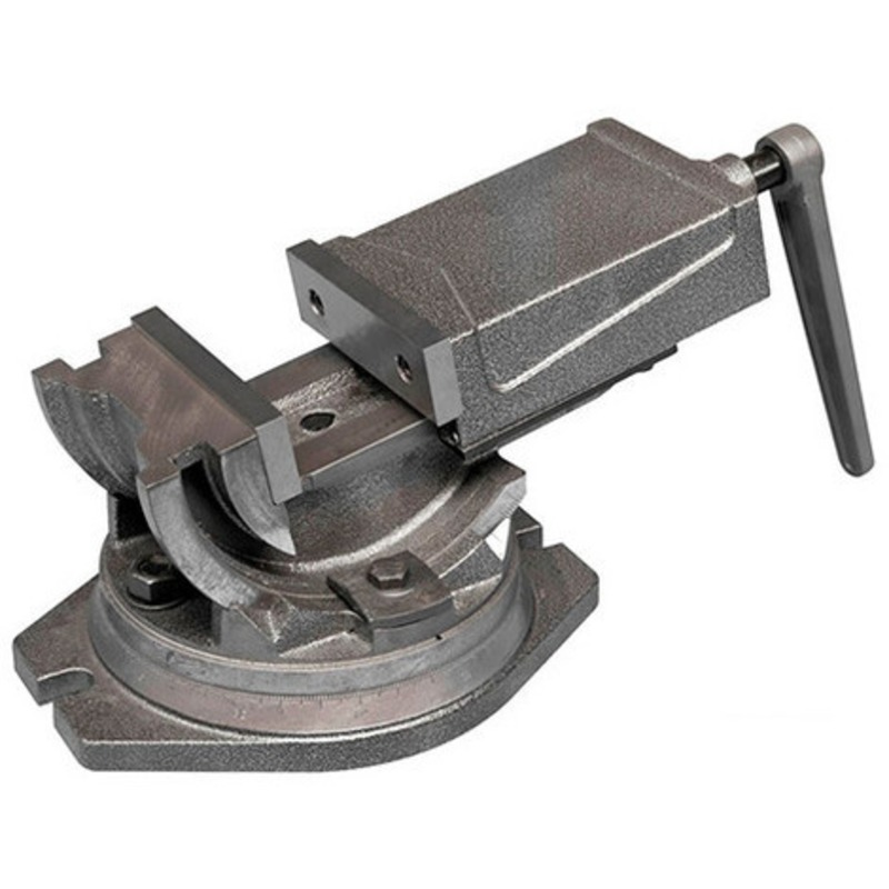 Etau industriel 125 mm 3 axes avec base tournante