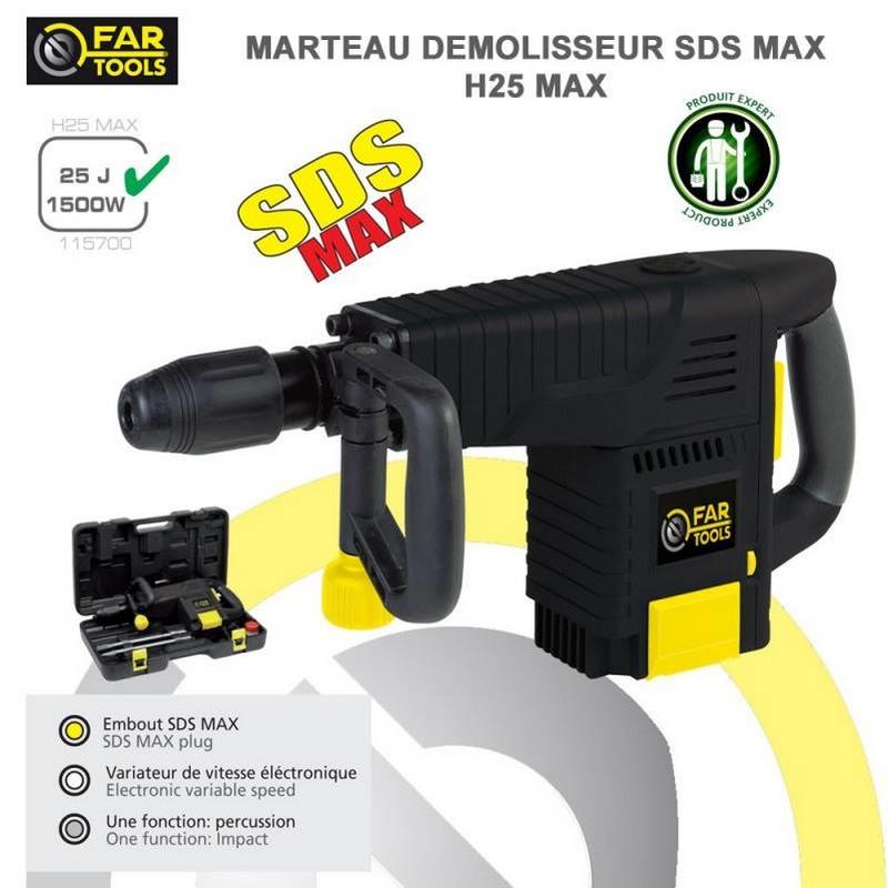 Marteau Démolisseur SDS max 1500w