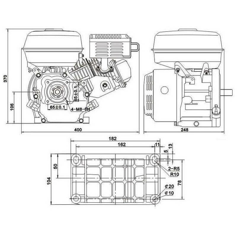 Moteur thermique 4 temps OHV 6.5 cv