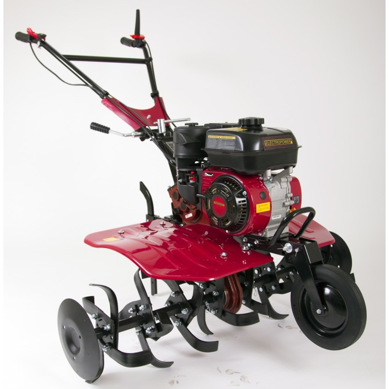 Motoculteur charrue et 8 fraises largeur de travail 110cm