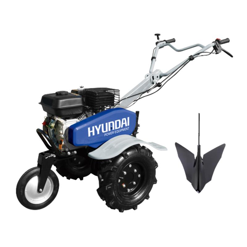 hyundai motoculteur motobineuse hmtc100 charrue 6 fraises. Black Bedroom Furniture Sets. Home Design Ideas