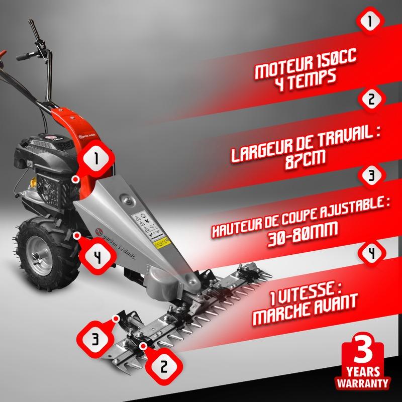 Motofaucheuse thermique 150cc