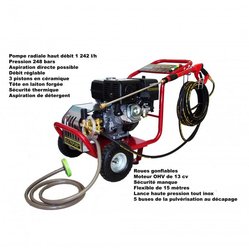Nettoyeur haute pression 13 CV 248 bars