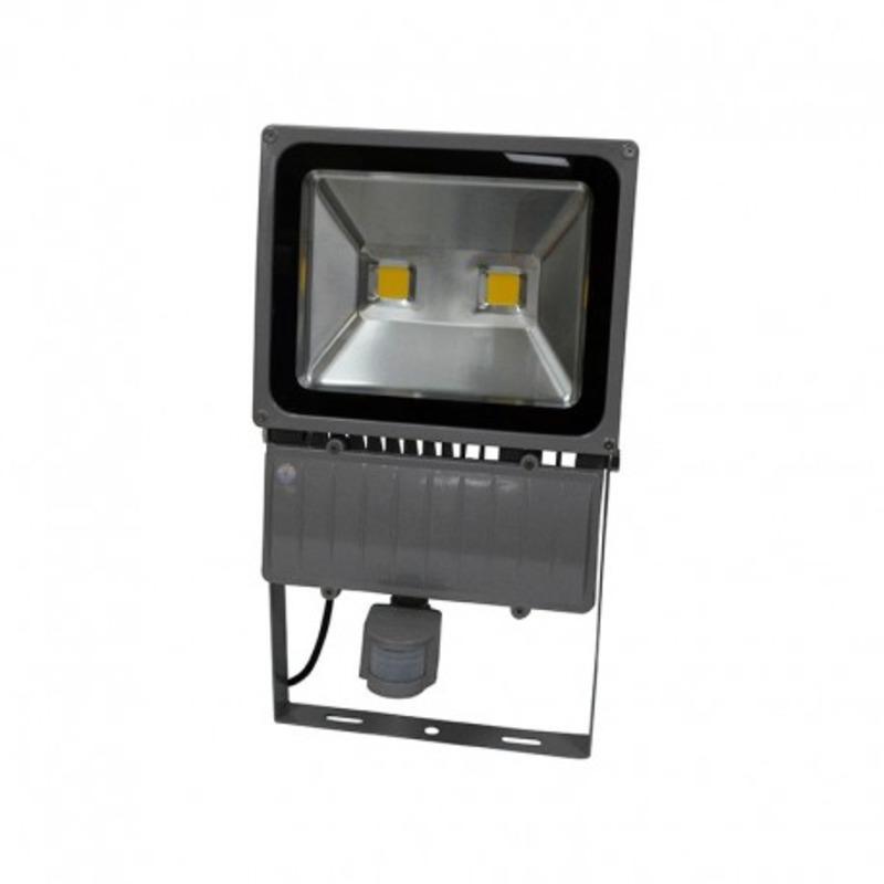 Projecteur Exterieur LED Gris Détecteur 100W 3000°K
