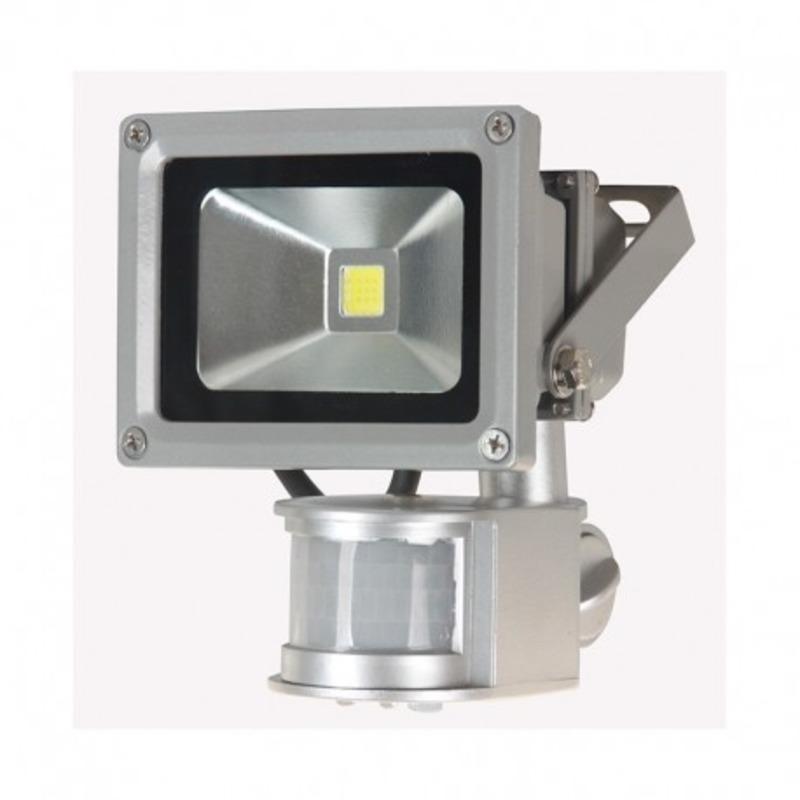 Projecteur Exterieur LED Gris Détecteur 10W 3000°K