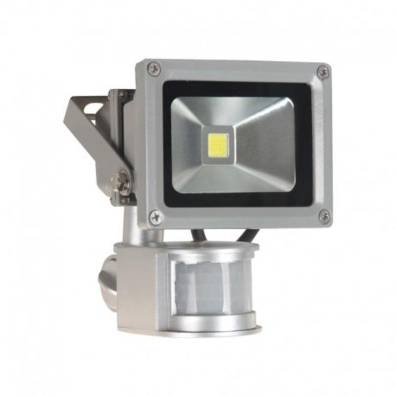 Projecteur Exterieur LED Gris Détecteur 10W 6000°K