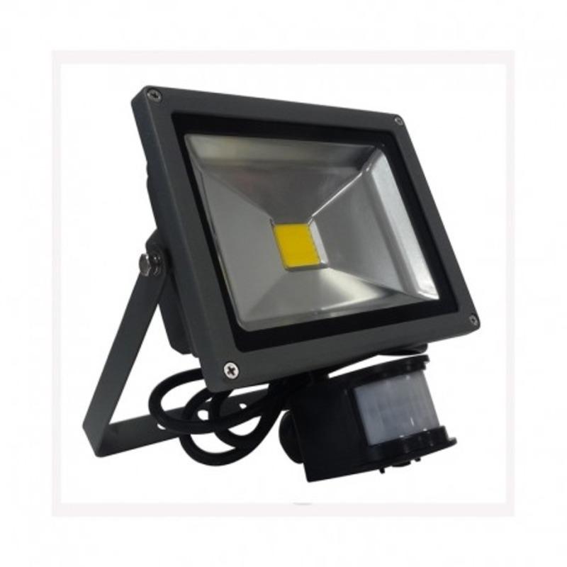 Projecteur Exterieur LED Gris Détecteur 20W 3000°K