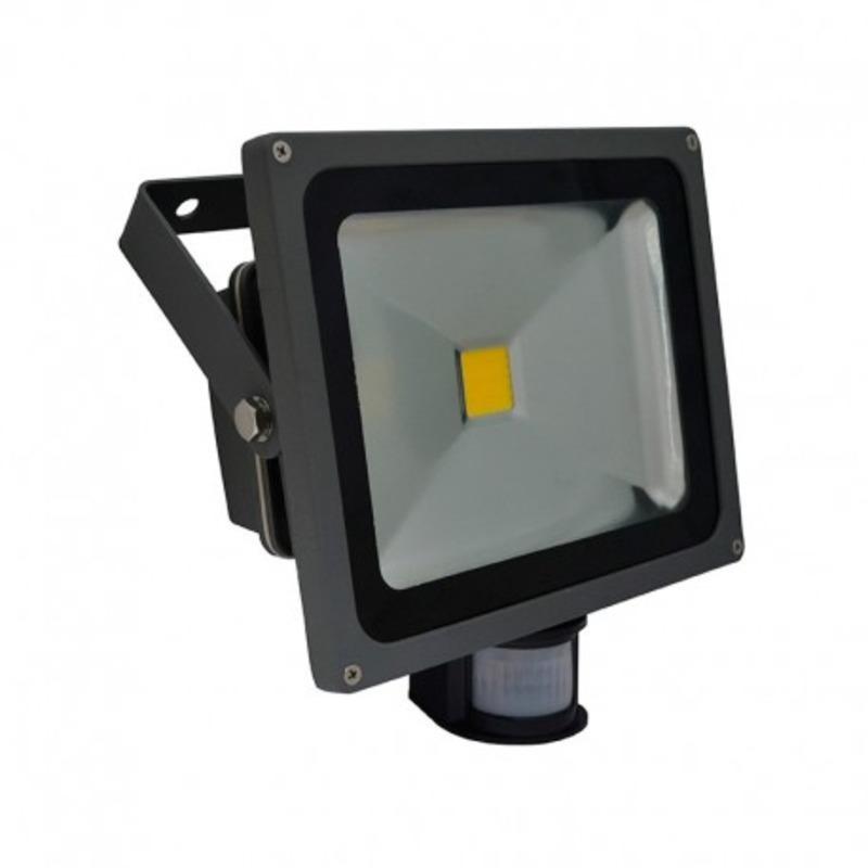 Projecteur Exterieur LED Gris Détecteur 30W 3000°K
