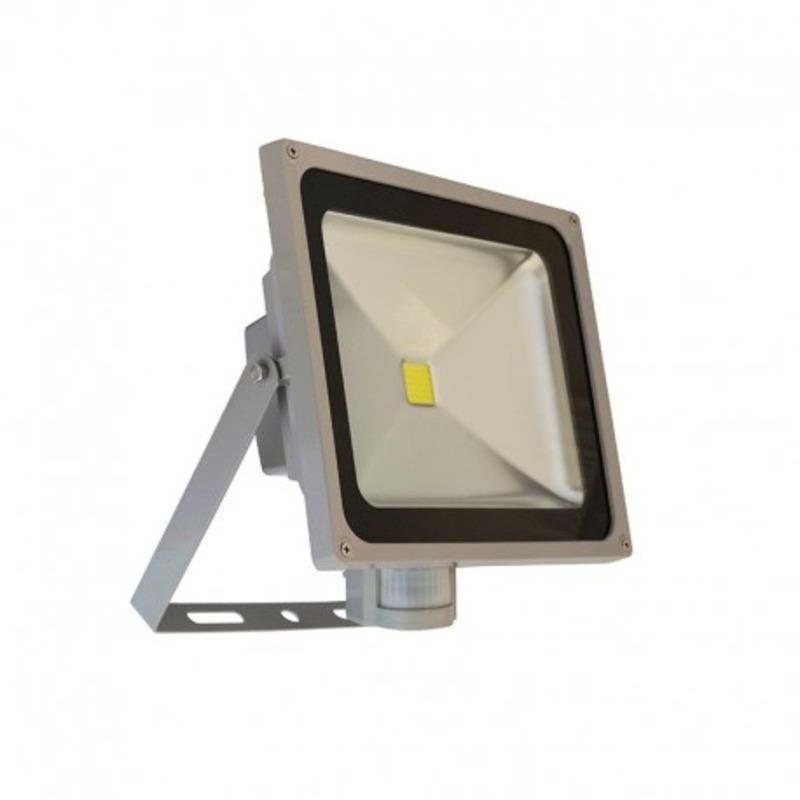 Projecteur Exterieur LED Gris Détecteur 50W 6000°K