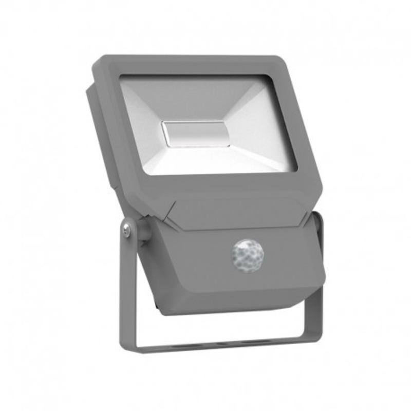 Projecteur Exterieur LED Plat Gris Détecteur 20W 6000°K