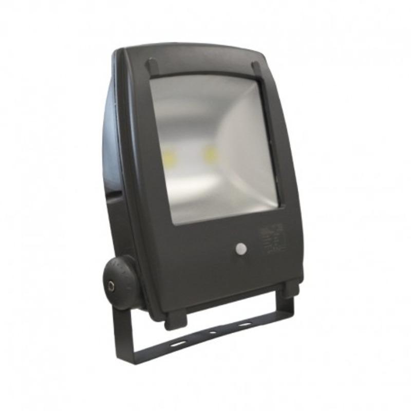 Projecteur Exterieur LED Plat Gris Détecteur 80W 6000°K