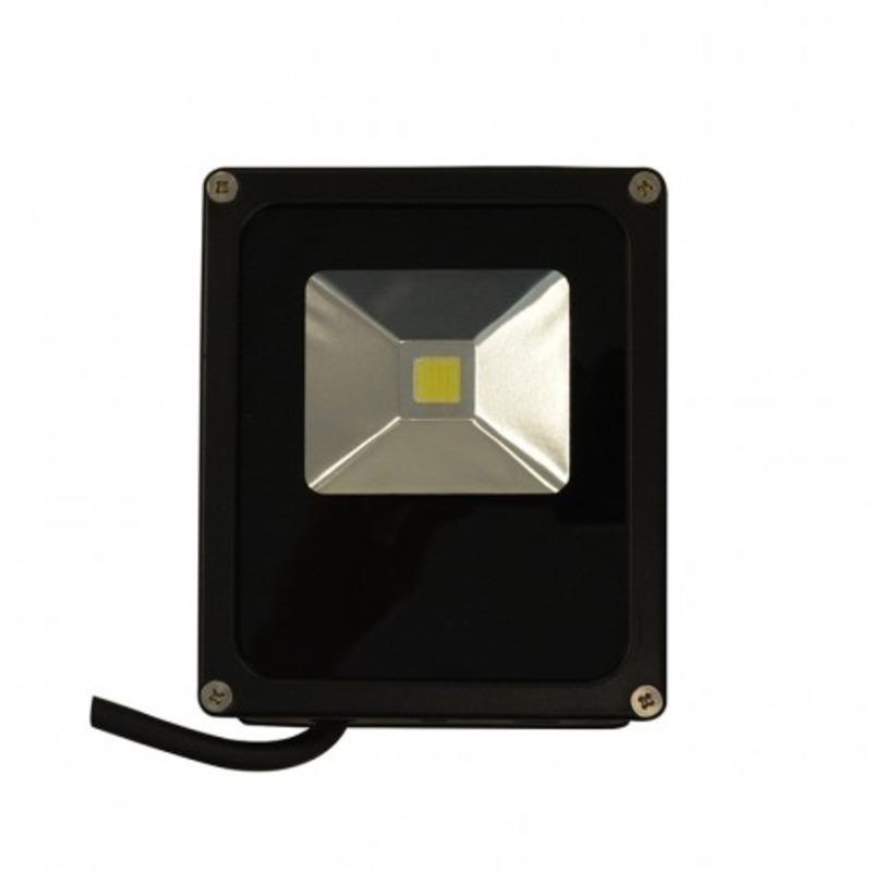 Projecteur Exterieur LED Plat Noir 10W 6000°K