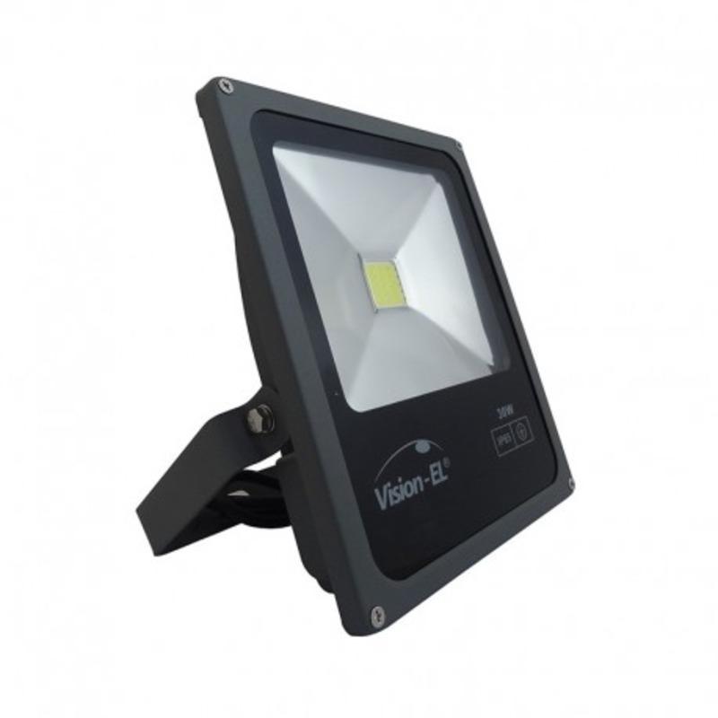 Projecteur Exterieur LED Plat Noir 30W 6000°K