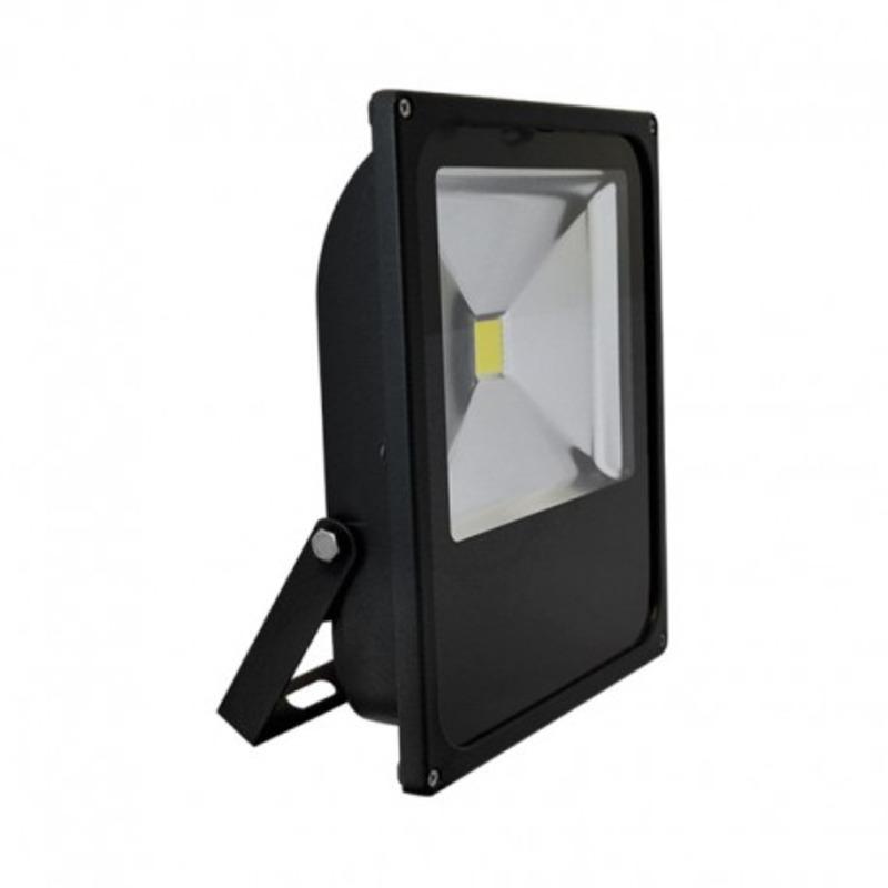 Projecteur Exterieur LED Plat Noir 50W 6000°K
