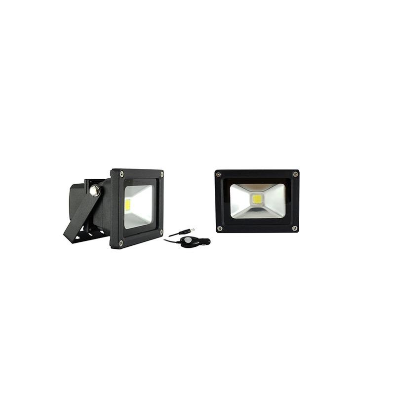 Projecteur Noir  portatif  LED 10W Orientable 6000°K
