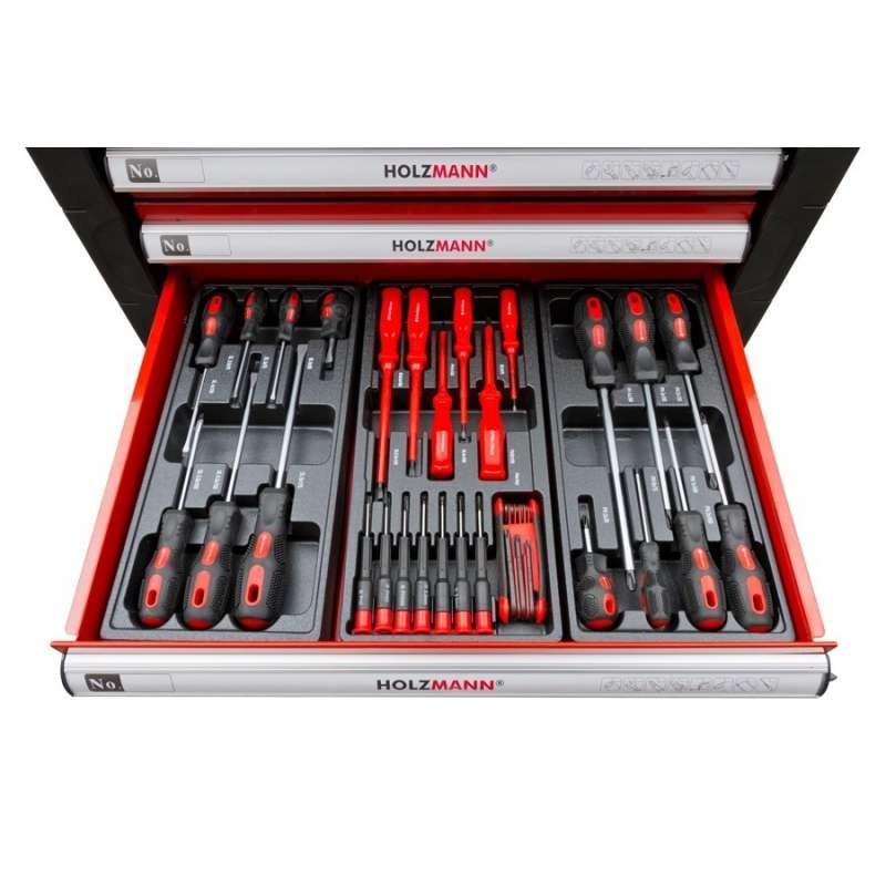 Servante d'atelier équipée de 391 outils