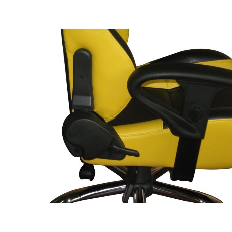Siège baquet de bureau Simili cuir jaune et noir