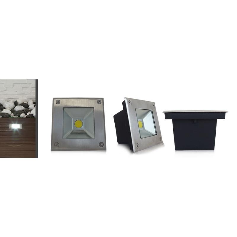 spot encastre sol led ip67 3w 4500 k. Black Bedroom Furniture Sets. Home Design Ideas