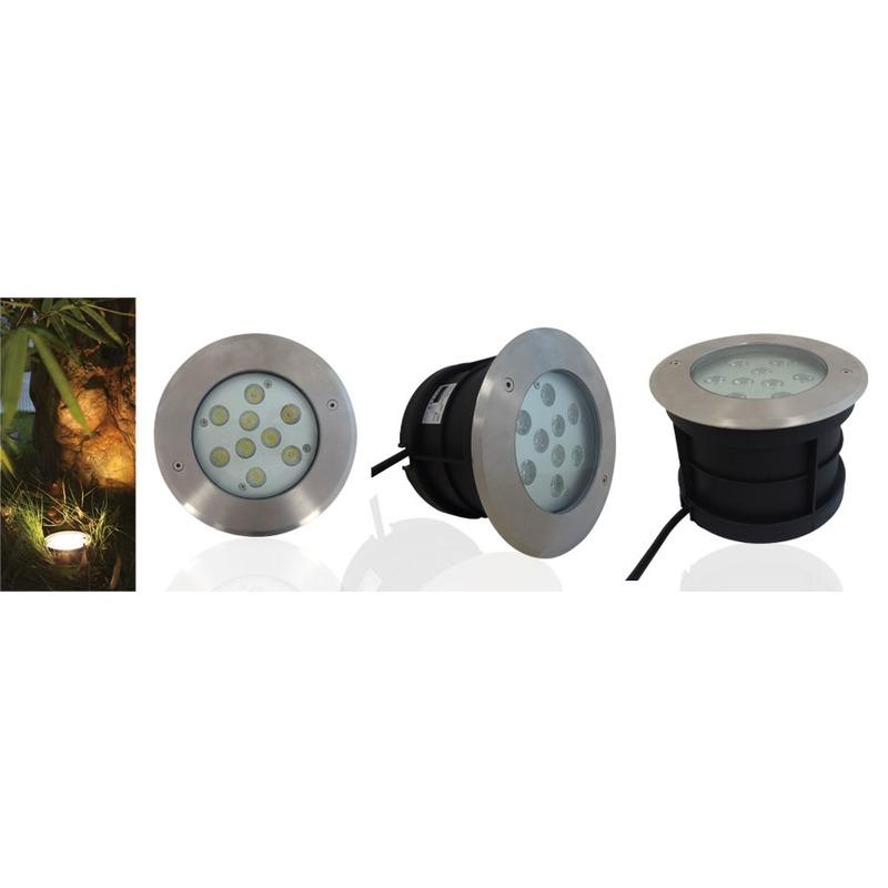 SPOT ROND ENCASTRE SOL LED IP67 10W