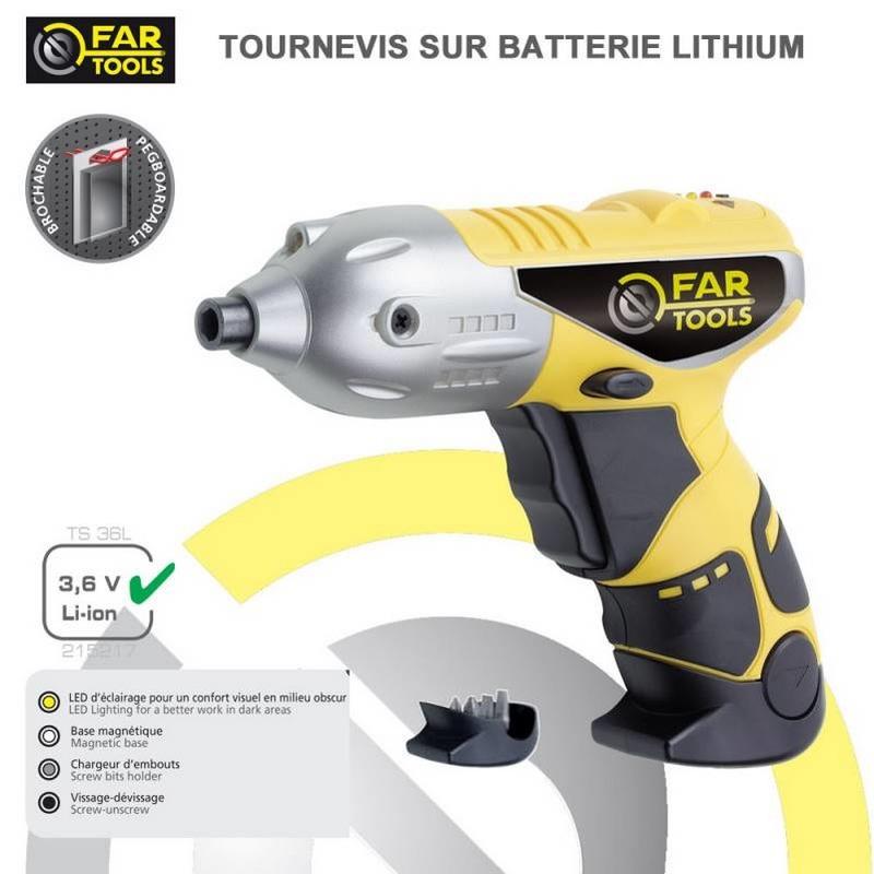Tournevis sans fil 3.6v à batterie Li-Ion